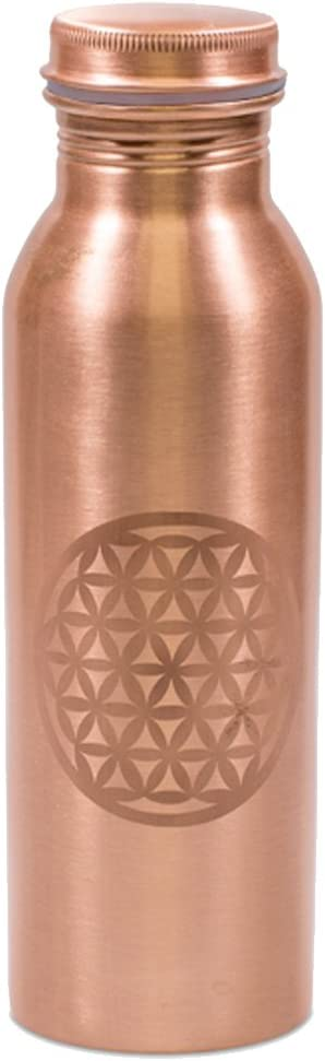 Zen et Ethnique - Botella de cobre con tapón de rosca (750 ml), diseño de flor de la vida