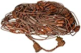 Vickerman 2' x 8' Red LED Net Style Tree Trunk Wrap Christmas Lights - Brown Wire