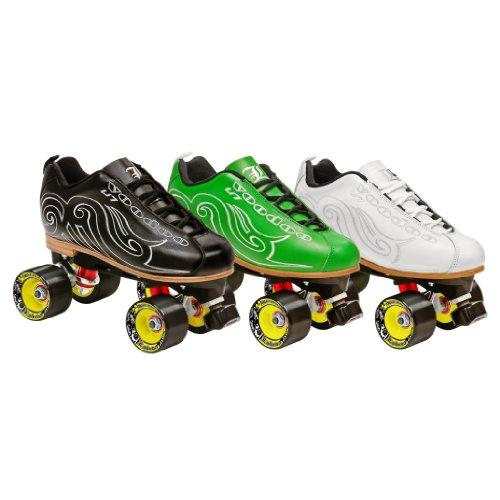 Labeda Voodoo U7 Speed Roller Skates - Green 6 (Boot Labeda)