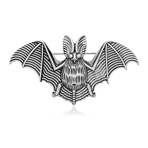 - SENFAI Hallowmas Style Vampire Bat Blackness Brooch Antique Color (Antique Silver)