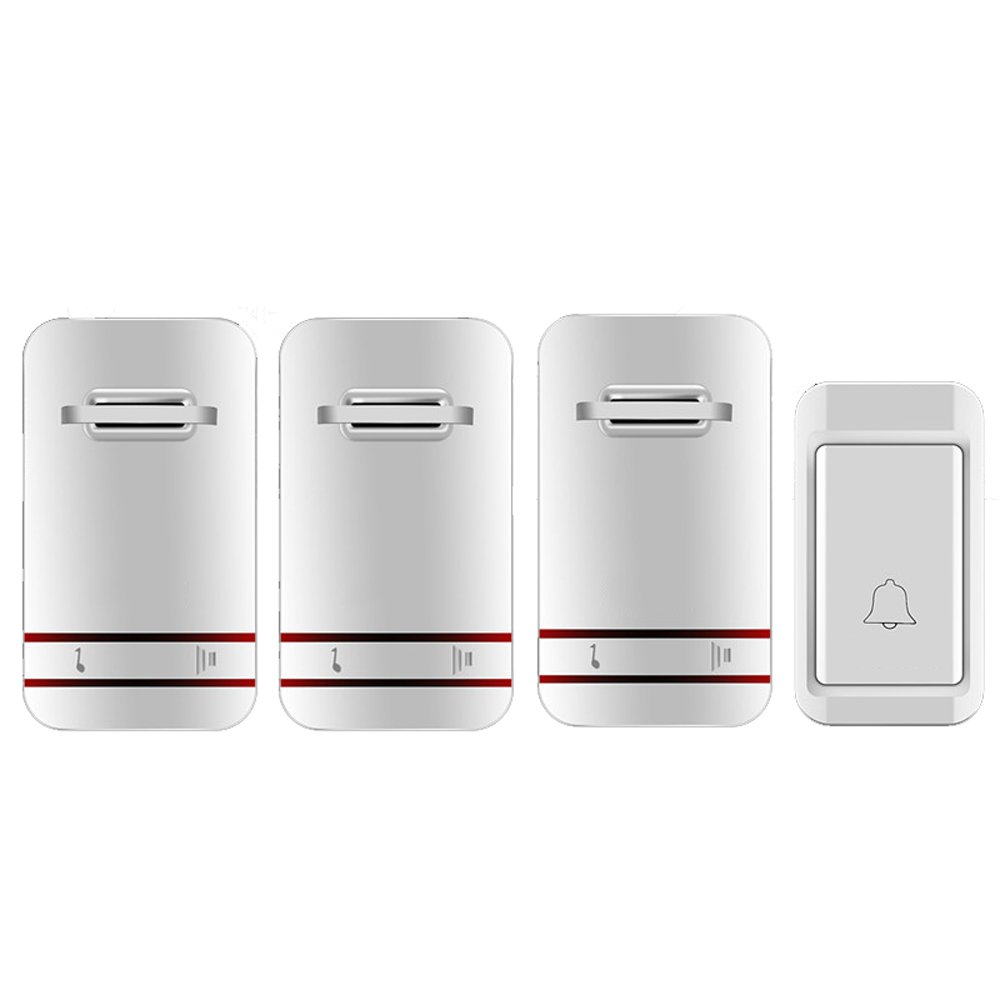 MUTANG Self-Generating Powered Wireless Doorbell Kit No Battery Required Weatherproof Electric Door Chime Multiple Choices (Color : C)