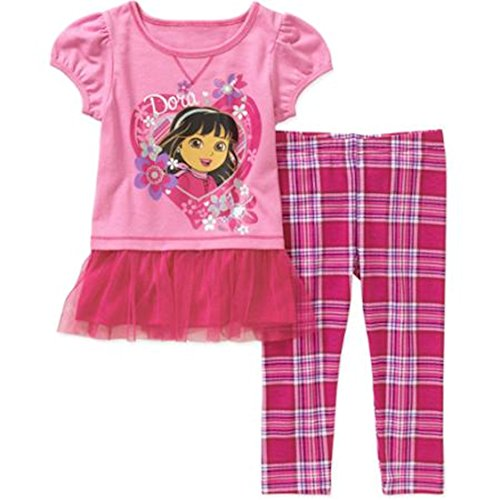 Dora the Explorer Baby / Toddler Little Girls Tunic & Leggings Outfit Set (18 Months)