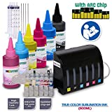 INKUTEN Ciss Continuous Ink Supply System for 79 T079 #79 Artisan 1430 Printer 6x100ml True Color Sublimation ink