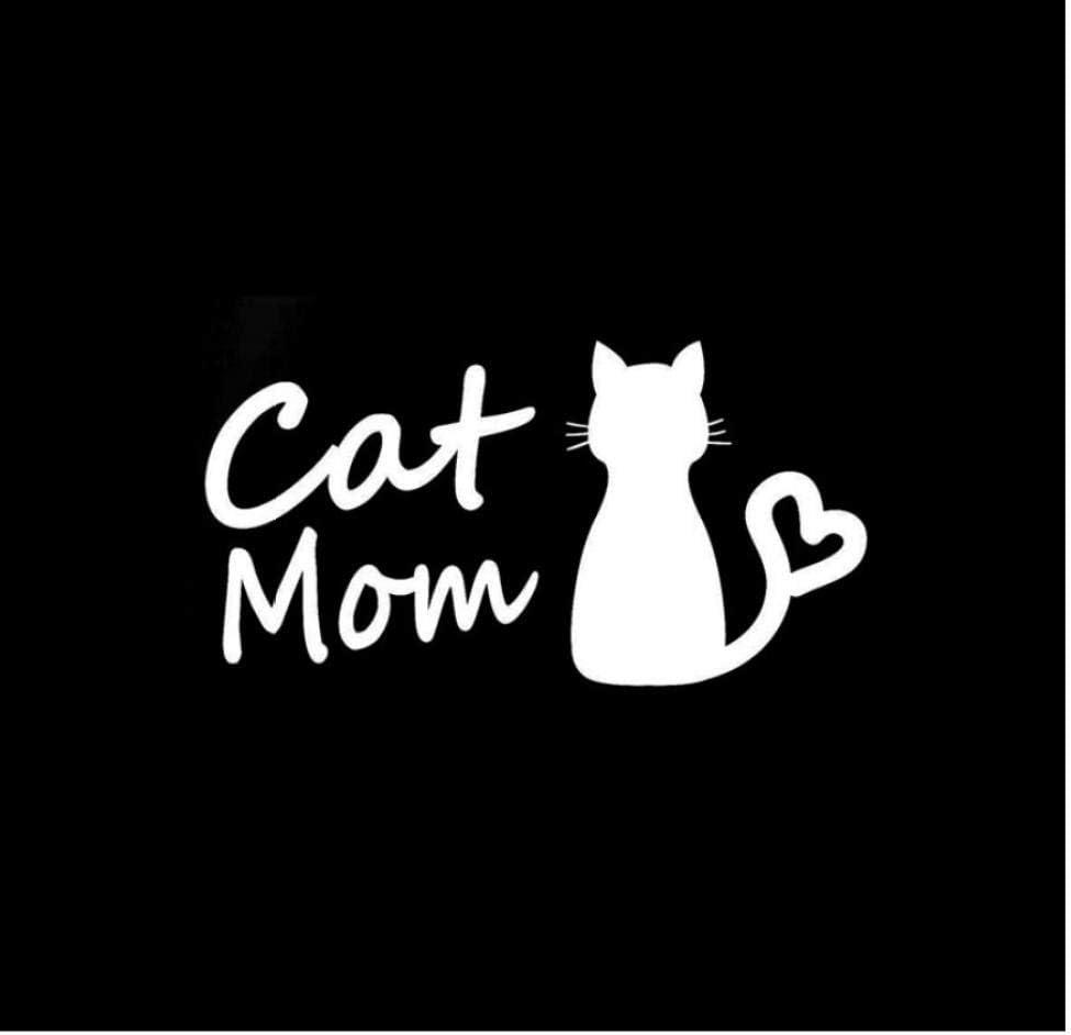 Sticker de carro,Amor gato mascota DIY PVC para ventana de parachoques de señal de giro Decoración creativa Suministro Motocicleta Car-Styling Hood Door 13X6.7CM 5Pcs