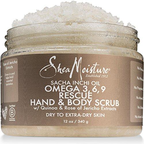 Omega 3 Repair (Shea Moisture Sacha Inchi Oil Omega-3-6-9 Rescue Hand Body Scrub for Unisex, 12 Ounce)