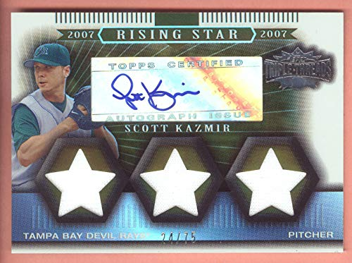 2007 Topps Triple Threads Sepia #179 Scott Kazmir Triple Jersey Autograph #24/75