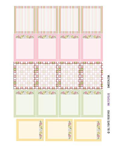 Cottage Sampler - Monthly Planner Stickers Cottage Chic Vintage Roses Full Box Sampler Planner Labels Fits Erin Condren Life Planner