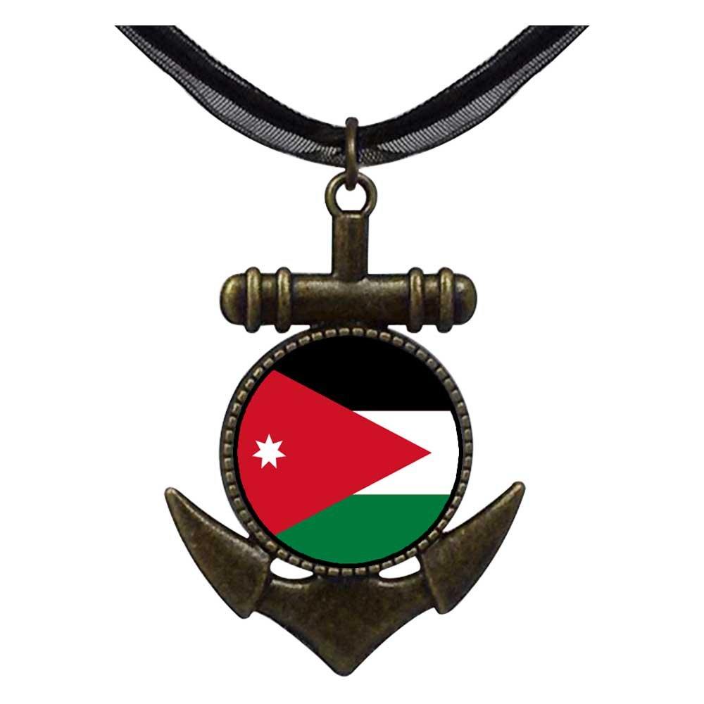 GiftJewelryShop Bronze Retro Style Jordan flag Anchor Charm Pendant Necklaces #8
