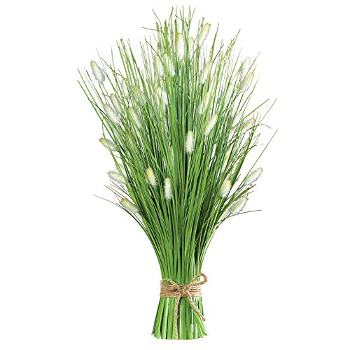 Faux Fountain Grass Bouquet Bunch with Burlap Bow - 26
