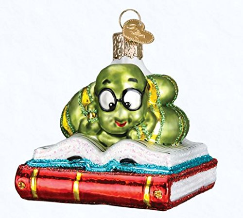 Old World Christmas 12514 Ornament, Bookworm (Christmas Ornaments Book)
