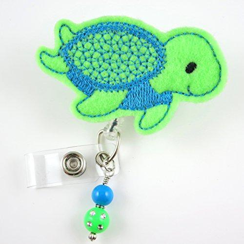 Blue Turtle - Nurse Badge Reel - Retractable ID Badge Holder - Nurse Badge - Badge Clip - Badge Reels - Pediatric - RN - Name Badge Holder