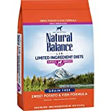 Natural Balance Small Breed Bites L.I.D. Limited Ingredient Diets Dry Dog Food, Grain Free, Sweet Potato & Fish Formula, 12-Pound