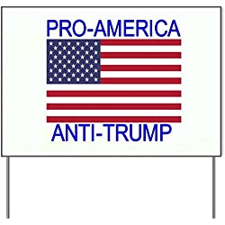 """Pro America Anti Trump Quote American Flag 18x24"""" Yard Sign by Trendy Accessories"""