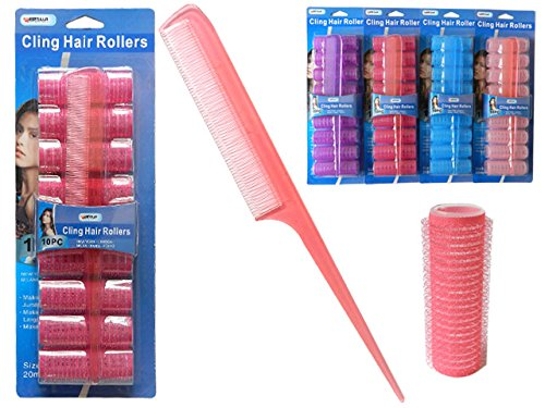 HAIR ROLLER CLING 9PC+COMB 8'', Case of 96