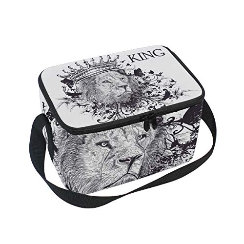 Premium Lunch Bag/Ice bag with Shoulder Strap Lion King | Lunch Box for Adults, Kids | Soft Leak Proof Liner |Lunch Cooler for Office, School