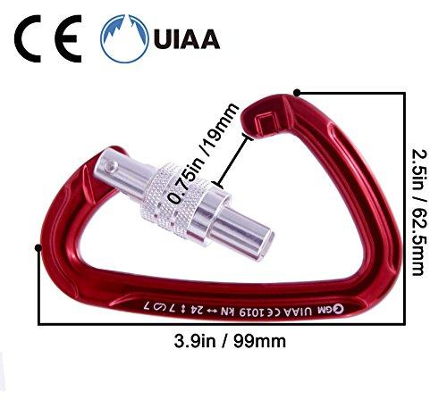GM CLIMBING 24kN Ultra Light Locking Carabiner Screw Gate UIAA Certified