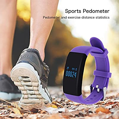 Sudroid D21 Fitness Tracker,Touch Screen Accurate Sleeping Monitor Pedometer Smart Band Wireless Activity Wristband (Purple)