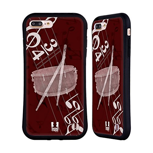 Head Case Designs Snare Musika Hybrid Case for iPhone 7 Plus/iPhone 8 Plus (Hybrid Snare)