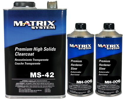 MS-42-G Premium High Solids Clearcoat /with Hardener (NORMAL HARDENER(MH-005)) by Matrix System