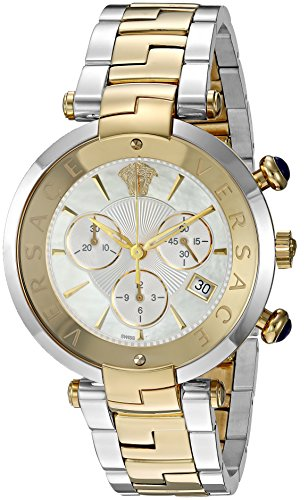 Versace 'Rêvive Chrono' Swiss Quartz Stainless Steel Casual Watch, Color:Two Tone (Model: VAJ050016)
