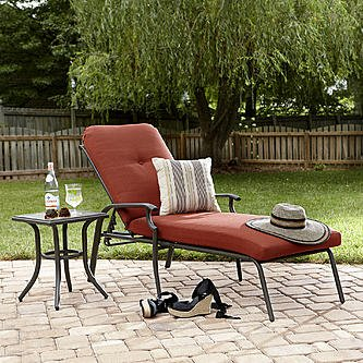Garden Oasis Brookston Chaise Lounge- Terracotta (Outdoor Chaise Lounge Chairs On Sale)
