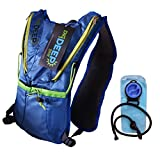 DIG DEEP GEAR HIKING HYDRATION BACKPACK/ 2 LITER BLADDER INCLUDED, Great for the thirsty Runner, Climber, Hiker, and Cyclist, Large Mouth TPU Water Bladder