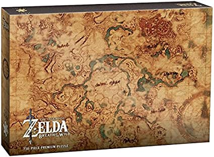 Amazon Com Usaopoly Zelda Breath Of The Wild Hyrule Map 750 Piece Puzzle Art From The Legend Of Zelda Breath Of The Wild Video Game Official The Legend Of Zelda Merchandise