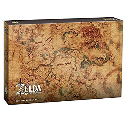 USAOPOLY Zelda Breath of The Wild Hyrule Map 750 Piece Puzzle | Art on skyward sword map, wind waker map, star wars map, smash brothers map, harvest moon map, kingdom hearts map, minecraft map, mario world map, hyrule map, super mario map, zilla map, castlevania 3 map, gta map, castlevania 2 map, pokemon map, metroid map, oracle of ages map, ocarina of time map, mario kart map, ikana map,