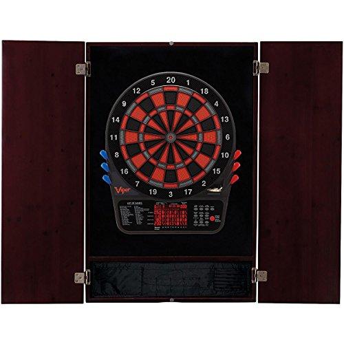 Viper 800 Electronic Dartboard & Metropolitan Mahogany Finish Cabinet ()