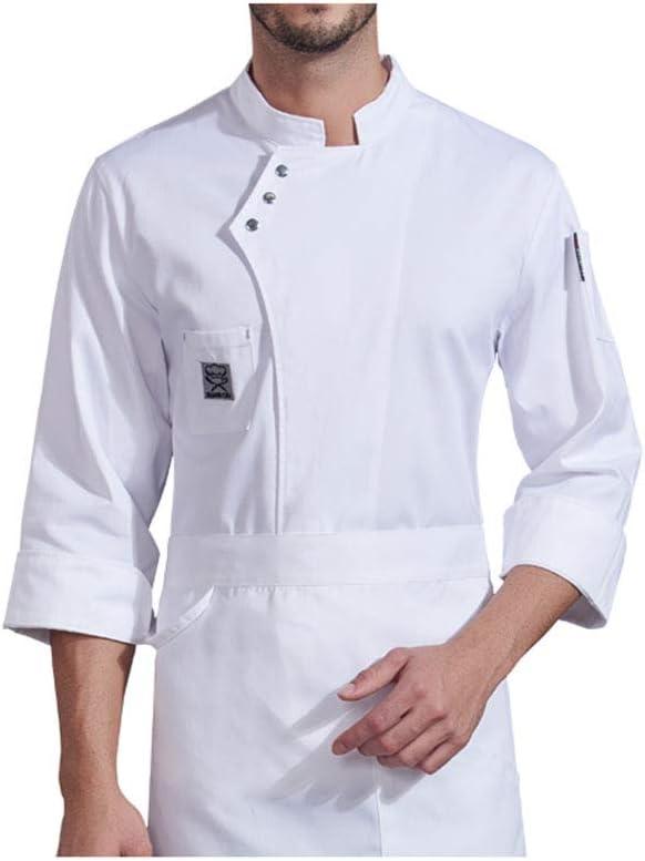 TIANMIAOTIAN Chef Ropa De Trabajo Camisa De Manga Larga Corbata Bolsillo Otoño Invierno Restaurante Hotel Catering Cocina Hornear Ropa De Chef Mujeres: Amazon.es: Deportes y aire libre