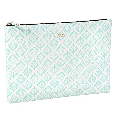 SCOUT Golden Girl Pouch & Clutch, Fits iPad Mini, Water Resistant, Zips Closed, Aqua Fresca by SCOUT