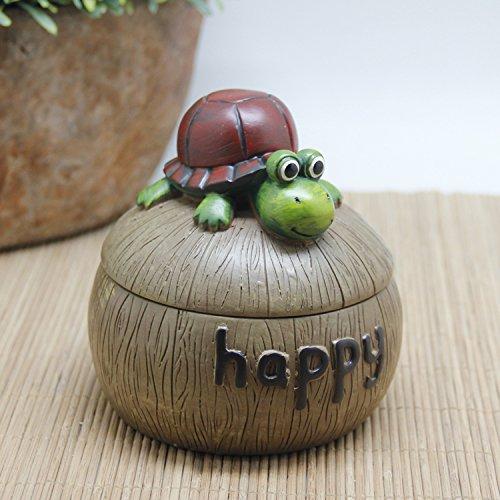 (SFSYDDY Creative Snail With A Lid Ashtray Cute Cartoon Fashion Personality Tortoise Ashtray Home Furnishing Accessories Tortoise)