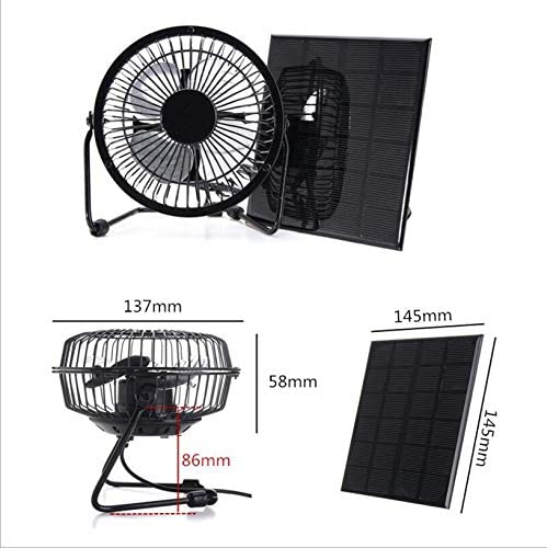 Mini Ventilador 10W 6 Pulgadas Solar Powered USB para Camping ...