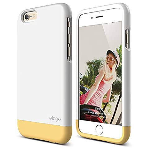 iPhone 6 Case, elago [Glide Limited-Edition][White / Creamy Yellow] - [Mix and Match][Premium Armor][True Fit] – for iPhone 6 (Phone Covers For Iphone 6 Elago)