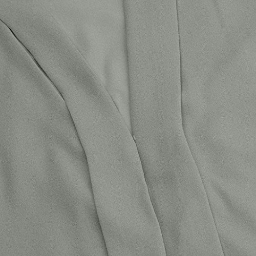 Tank Élégant V S Gris Longue Grande Sans Section Adeshop Manches Blouse Mode À Femmes Mousseline Taille Gilet Col Plage 5xl Top Couleur Pure Slim Tee Débardeurs Chemise 8F1qpwa