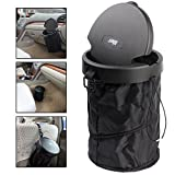 LILER Universal Traveling Portable Car Trash Can - Collapsible Pop-up Trash Bin With cover