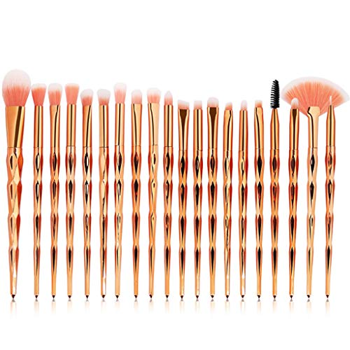 Eye Brush Set, 20 pcs Unicorn Eyeshadow Eyeliner Blending Crease Kit Makeup Brushes Make Up Foundation Eyebrow Eyeliner Blush Cosmetic Concealer Brushes (Rose Gold)
