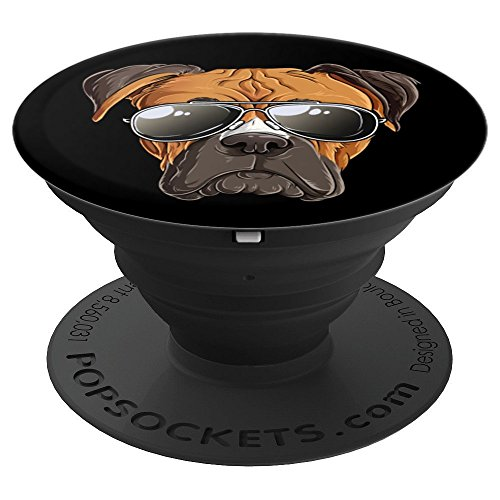 Boxer Sunglasses Funny Dog Meme Puppy Lovers Gift Kids Boys - PopSockets Grip and Stand for Phones and Tablets