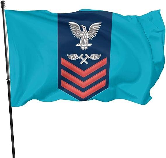 N/ Bandera de poliéster para aviación E-6, diseño Militar y Veterano Americano, Color Rojo, 3 x 5 Pulgadas: Amazon.es: Hogar