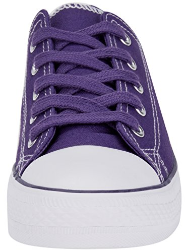 Gomma Sneakers Tela di Punta Ultra oodji con 8310b Donna in Viola Un8qgnIxEw
