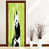 Best Animes For Hunting Decoratives - lihousehold 3D Door Wall Fridge Wrap Mural Scene Review