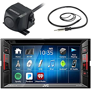 jvc kwv120bt 6 2 touch screen car cd dvd usb bluetooth stereo receiver bundle combo. Black Bedroom Furniture Sets. Home Design Ideas