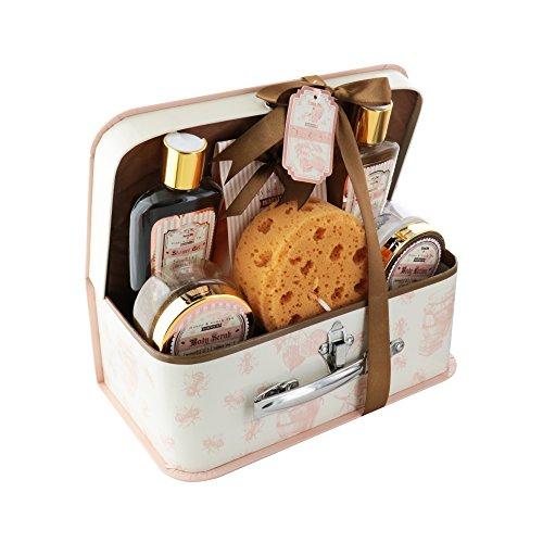 Green Tea Spa Gift (Spa Life All Natrual Bath and Body Luxury Spa Gift Set Basket (Honey Green Tea))