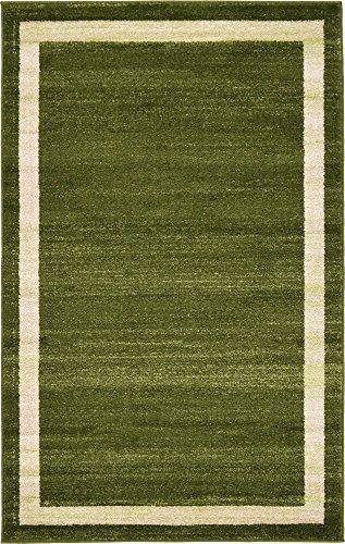 - Unique Loom Del Mar Collection Contemporary Transitional Green Area Rug (3' 3 x 5' 3)