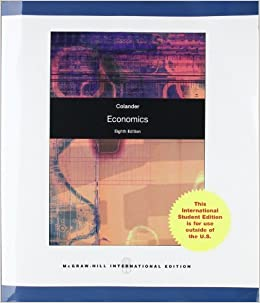 Economics by Colander, David C. [McGraw-Hill Higher Education,2009] 8th Revised edition