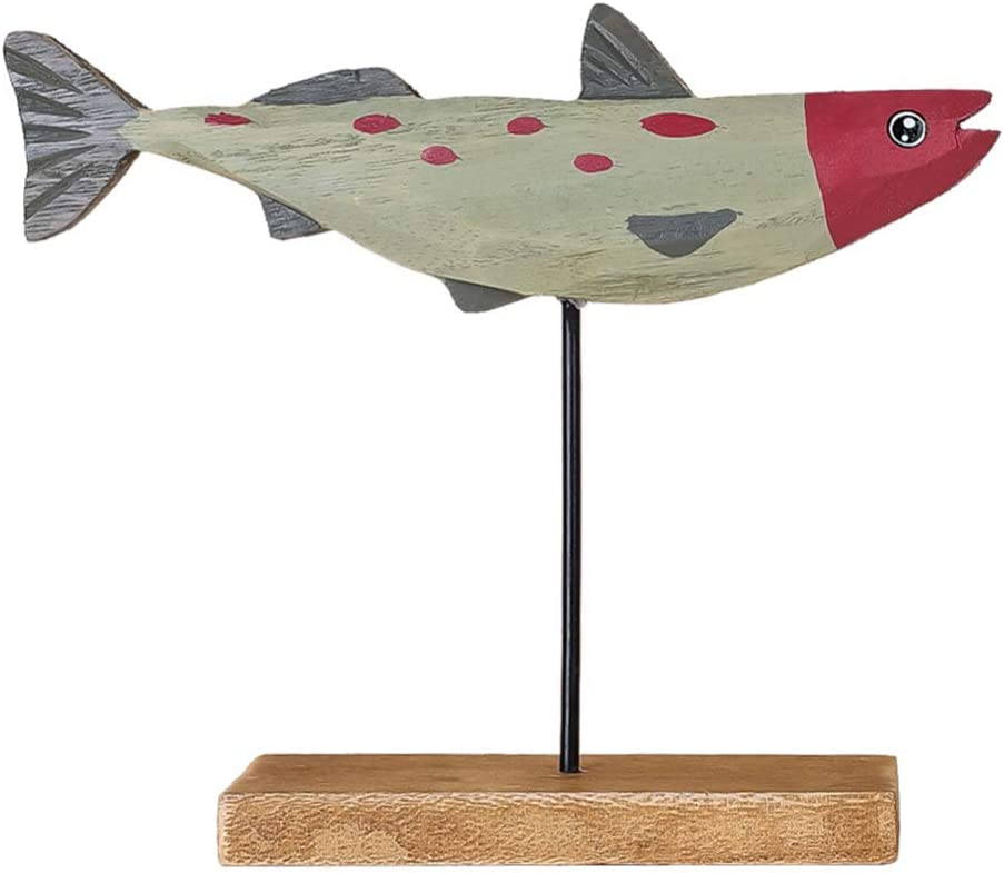 BESPORTBLE Wooden Fish Decoration Cartoon Wood Fish Home Decor Table Desktop Decoration Christmas Holiday Party Favors