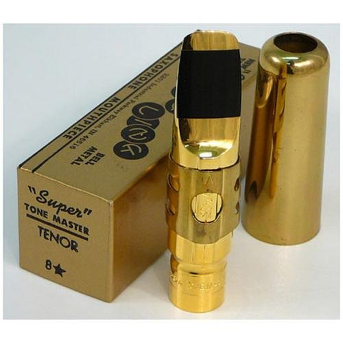 Soprano Saxophone Mouthpiece #5 with Cap and Ligature Gold Plated - 3