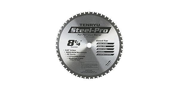 Tenryu PRF-21048BW STEEL-PRO 8-1//4-Inch Steel Cutting Carbide Tipped Saw Blade