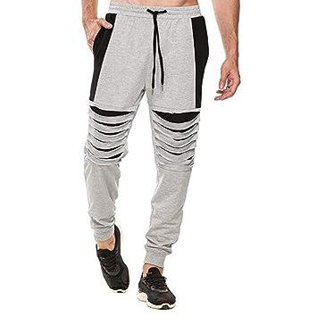 Nordira - Pantalones de Yoga para Hombre con cordón en la ...