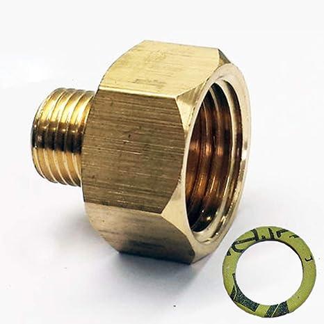 Phönix - Adaptador de gas LPG para hornillo de gas, manguera de gas con junta, adaptador de rosca, pieza de transición, 1/2